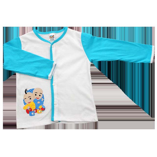 Pajamas clipart blue baby bib. Pyjamas upin ipin store