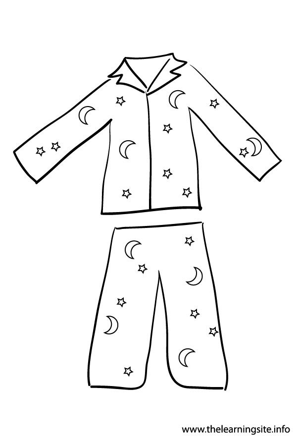 The learning site clip. Pajamas clipart clothes