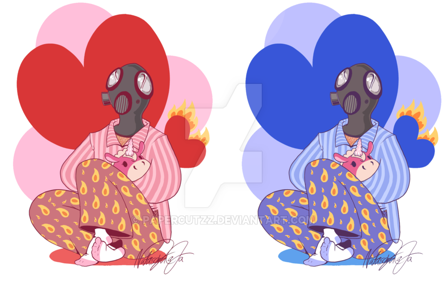 Pyro by papercutzz on. Pajamas clipart drawing