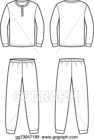 Vector art sleepwear gg. Pajamas clipart drawing