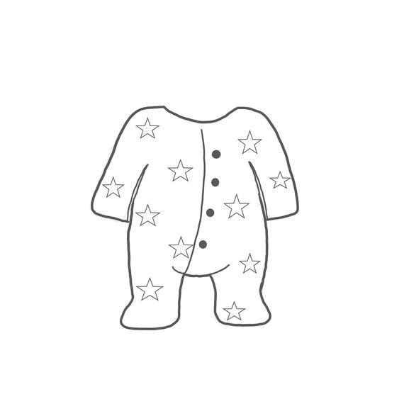 Baby cookie cutter . Pajamas clipart footed