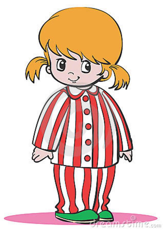 Pajamas clipart girl pajamas. Pajama clip art n