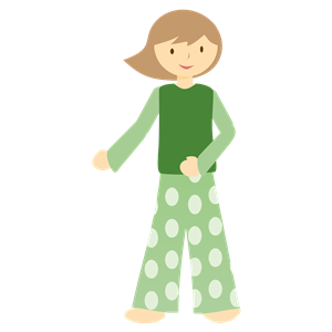 Pajamas clipart green. Girl in cliparts of