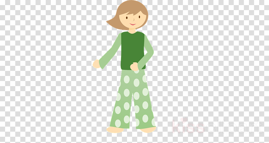 Child background clothing cartoon. Pajamas clipart green