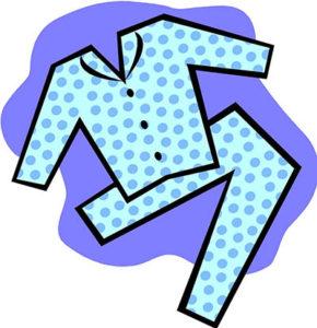 Clip art btyzk etl. Pajamas clipart last day preschool