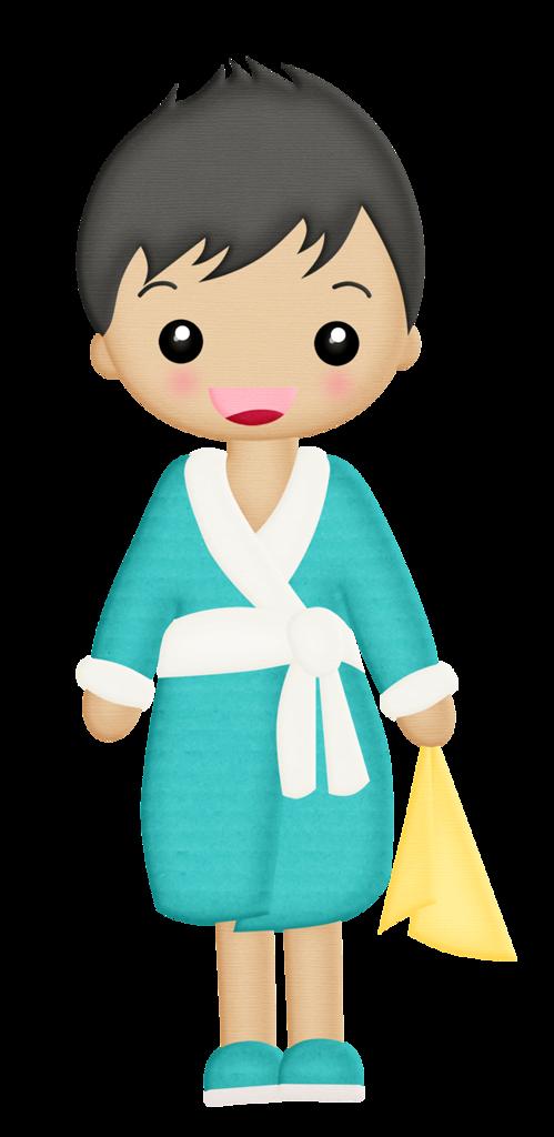 Banheiro banho e etc. Pajamas clipart little girl mexican