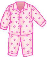 Pajamas clipart night clothes. Vocabulary