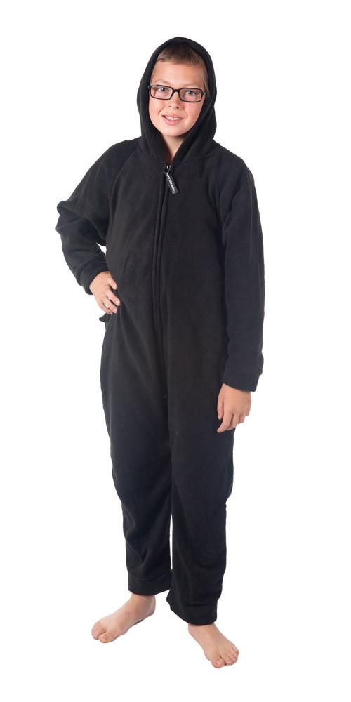 Kids black to sleep. Pajamas clipart onesie pajama