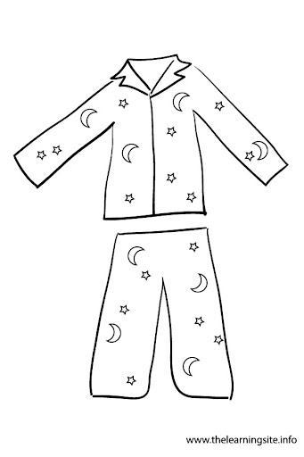 Kids black and white. Pajamas clipart pajama shirt