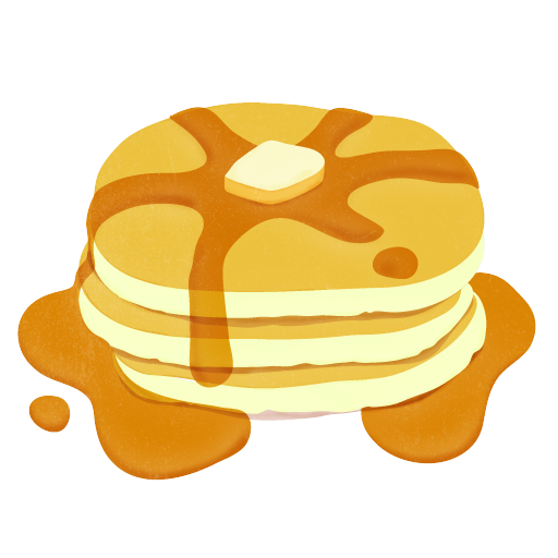 Pajamas clipart pancake. With syrup clip art
