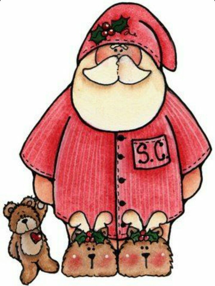 Pajamas clipart santa. Christmas cliparts free download