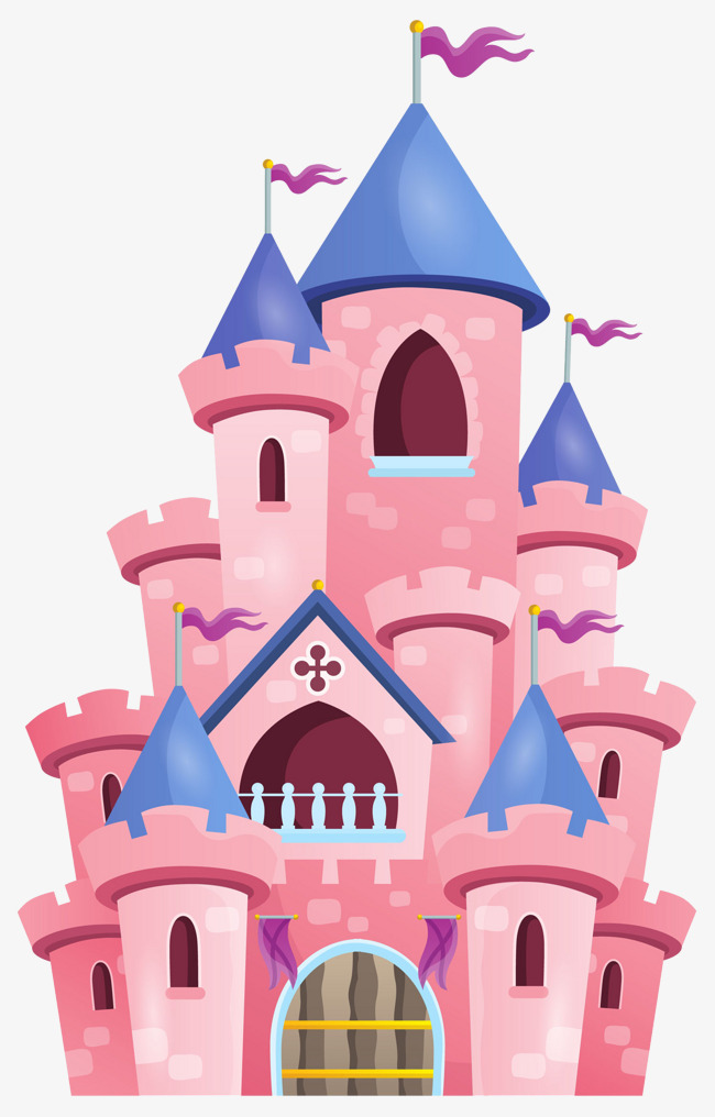Pink tower pagoda house. Palace clipart