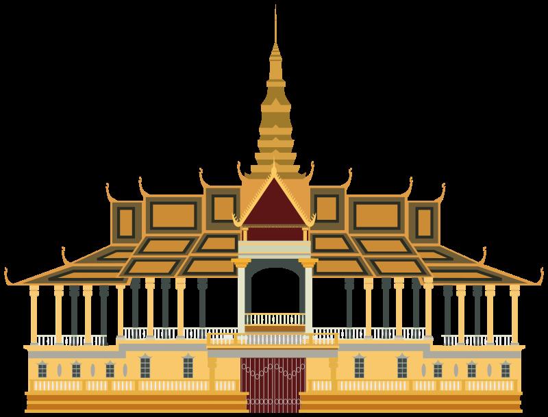 Royal phnom penh medium. Palace clipart amazing