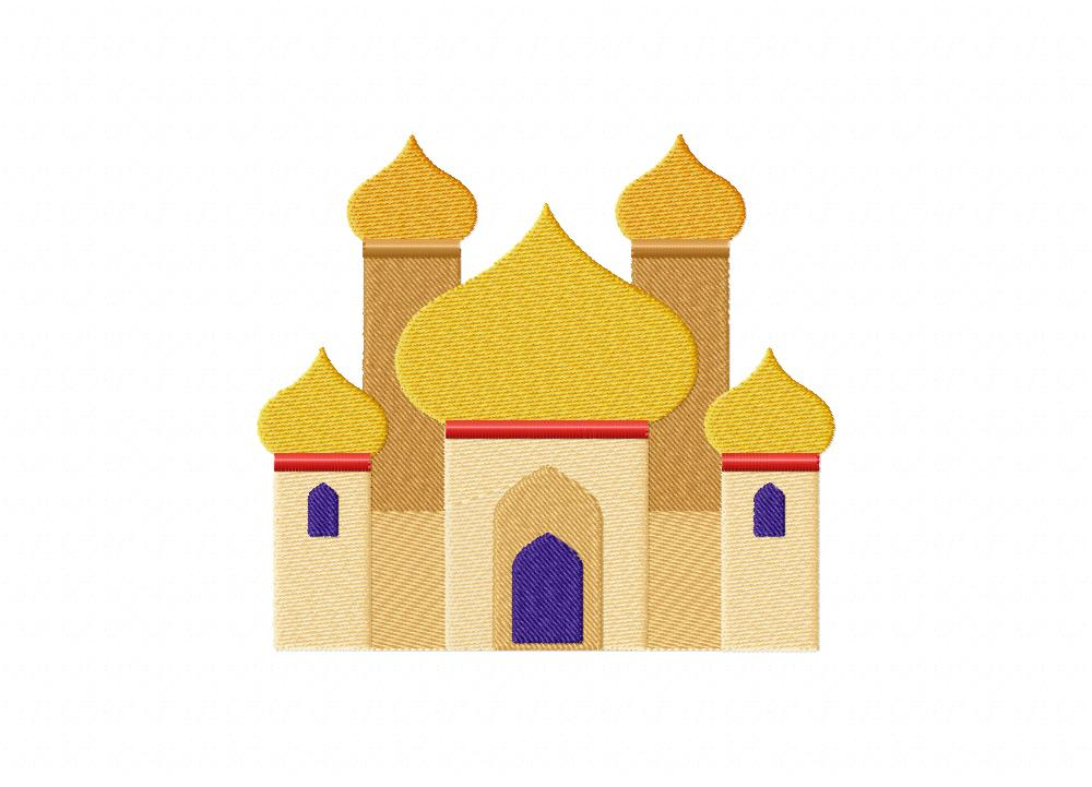 Palace clipart arabian palace. Machine embroidery design