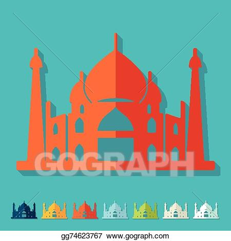 Vector art flat design. Palace clipart arabian palace