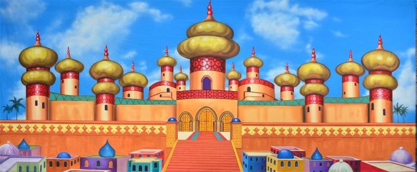Palace clipart arabian palace. Exterior aladdin jr in