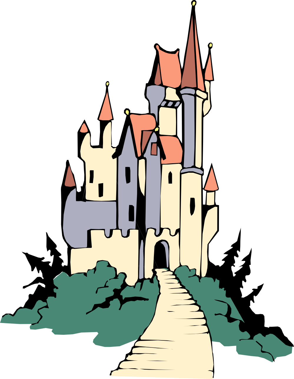 Palace clipart beautiful castle. Cinderella sleeping beauty clip