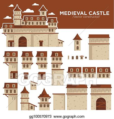 Vector stock medieval or. Palace clipart brick castle