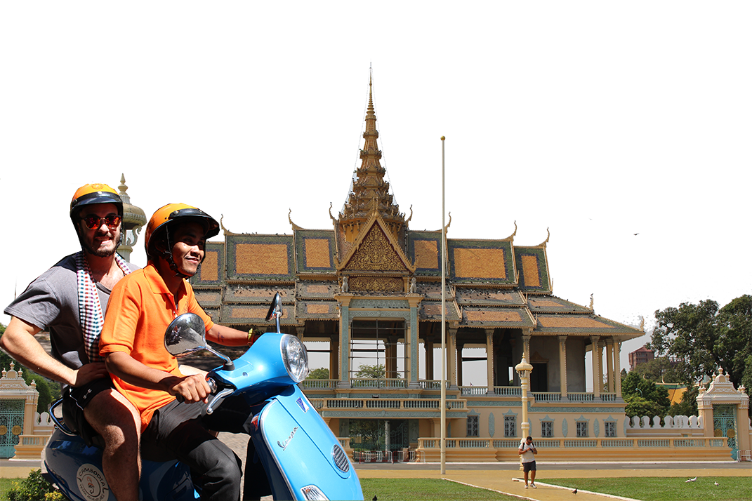 Vespa adventures vietnam scooter. Palace clipart cambodia