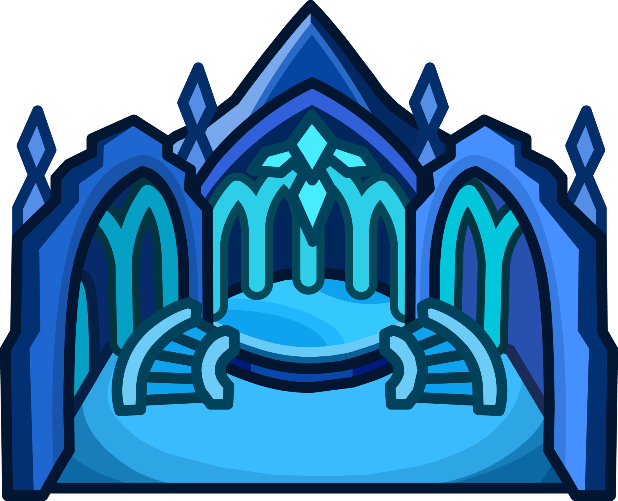 Palace clipart castillo. Ice igloo club penguin
