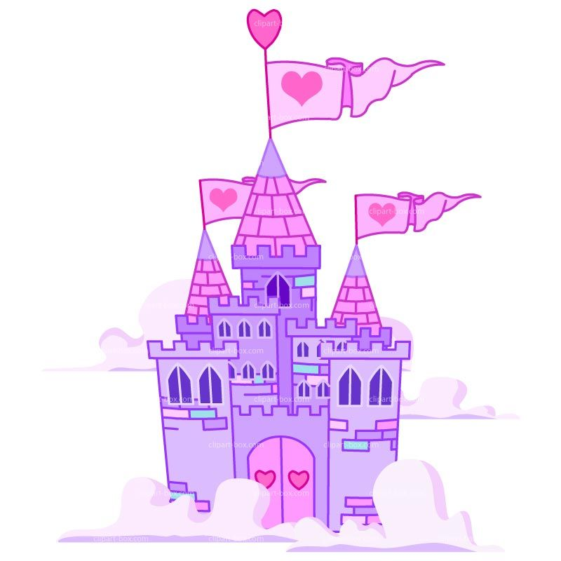 Pink and purple castle. Palace clipart castillo