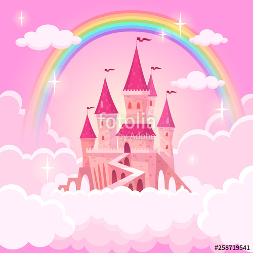 Palace clipart castle on cloud. Of princess fantasy flying