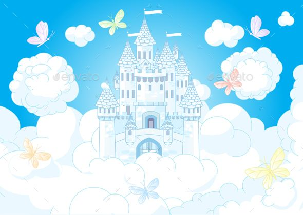 Palace clipart castle on cloud. Download free graphicriver magic