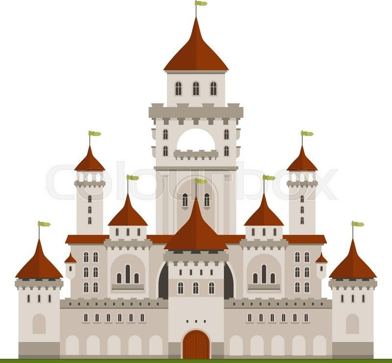 Stock vector of royal. Palace clipart castle roof