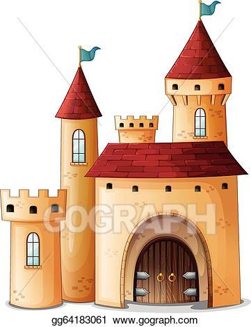 Clip art vector a. Palace clipart castle roof