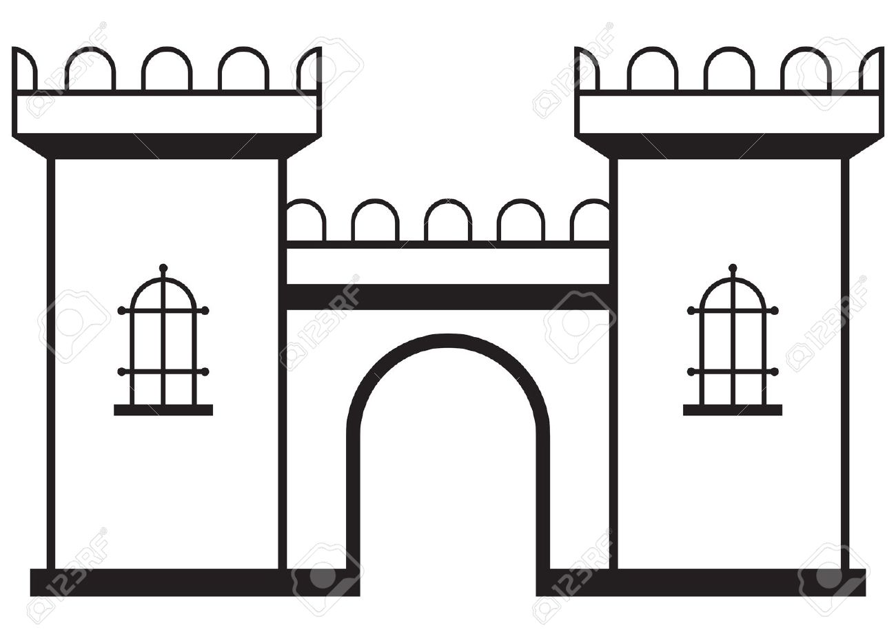 Palace clipart castle wall. Free silhouette cliparts download