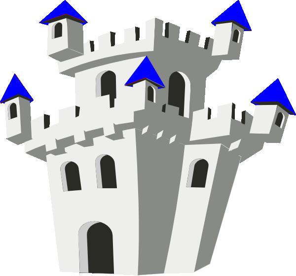 Clip art at clker. Clipart castle blue