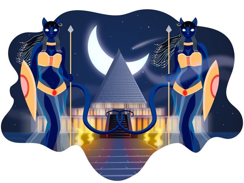 The pharaoh s guard. Palace clipart egyptian palace