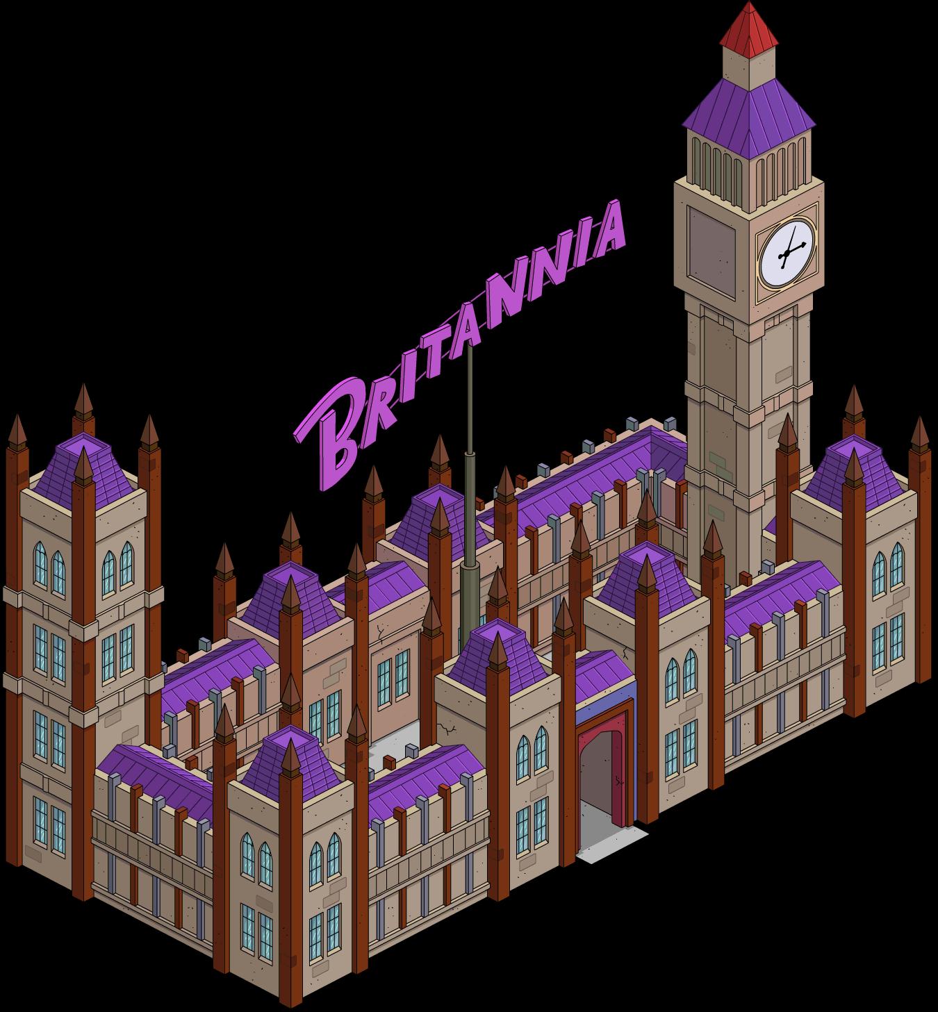 Palace clipart fish tank. Britannia casino the simpsons