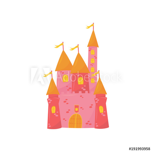 Palace clipart flag castle. Medieval with flanking towers