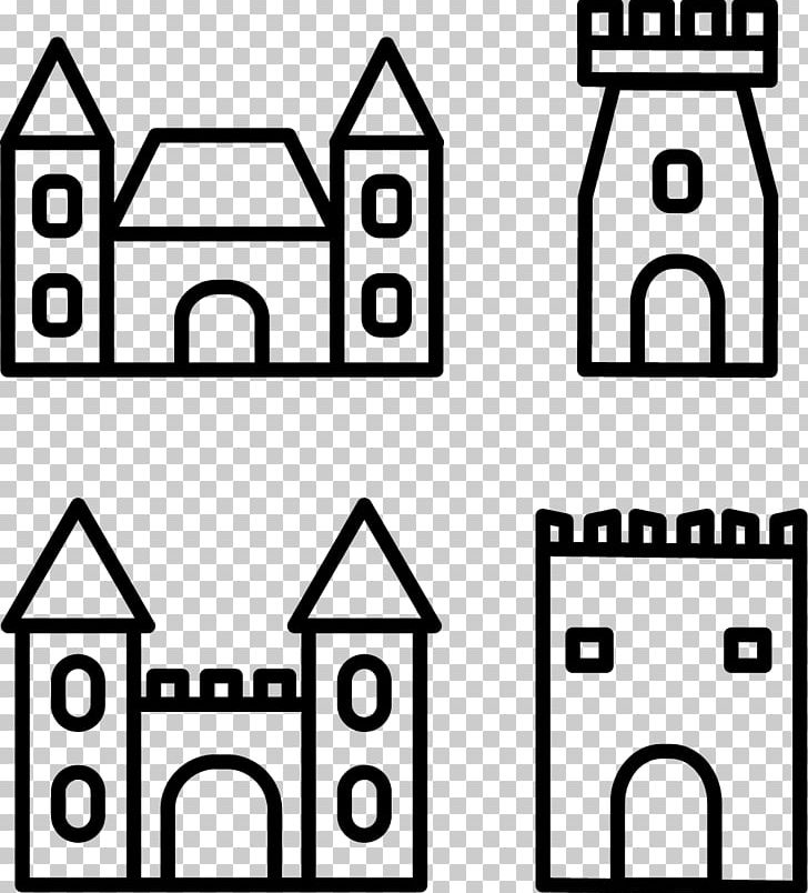 Castle icon png abstract. Palace clipart line