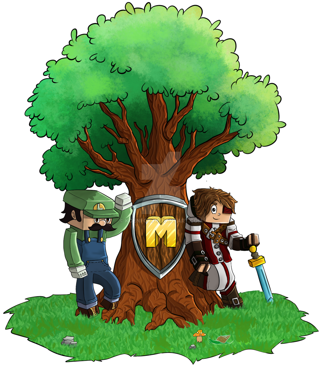 Palace clipart minecraft. Giant tree wip by