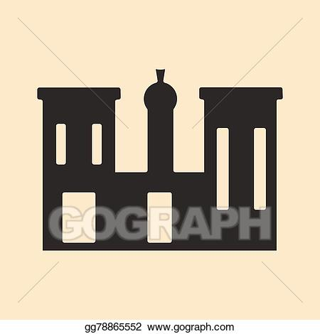 Vector stock flat in. Palace clipart palace egypt