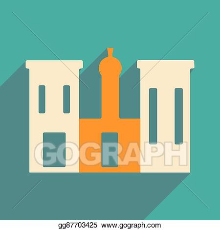 Palace clipart palace egypt. Vector stock flat with