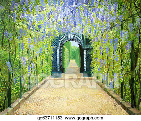 Palace clipart palace garden. Stock illustration schoenbrunn the