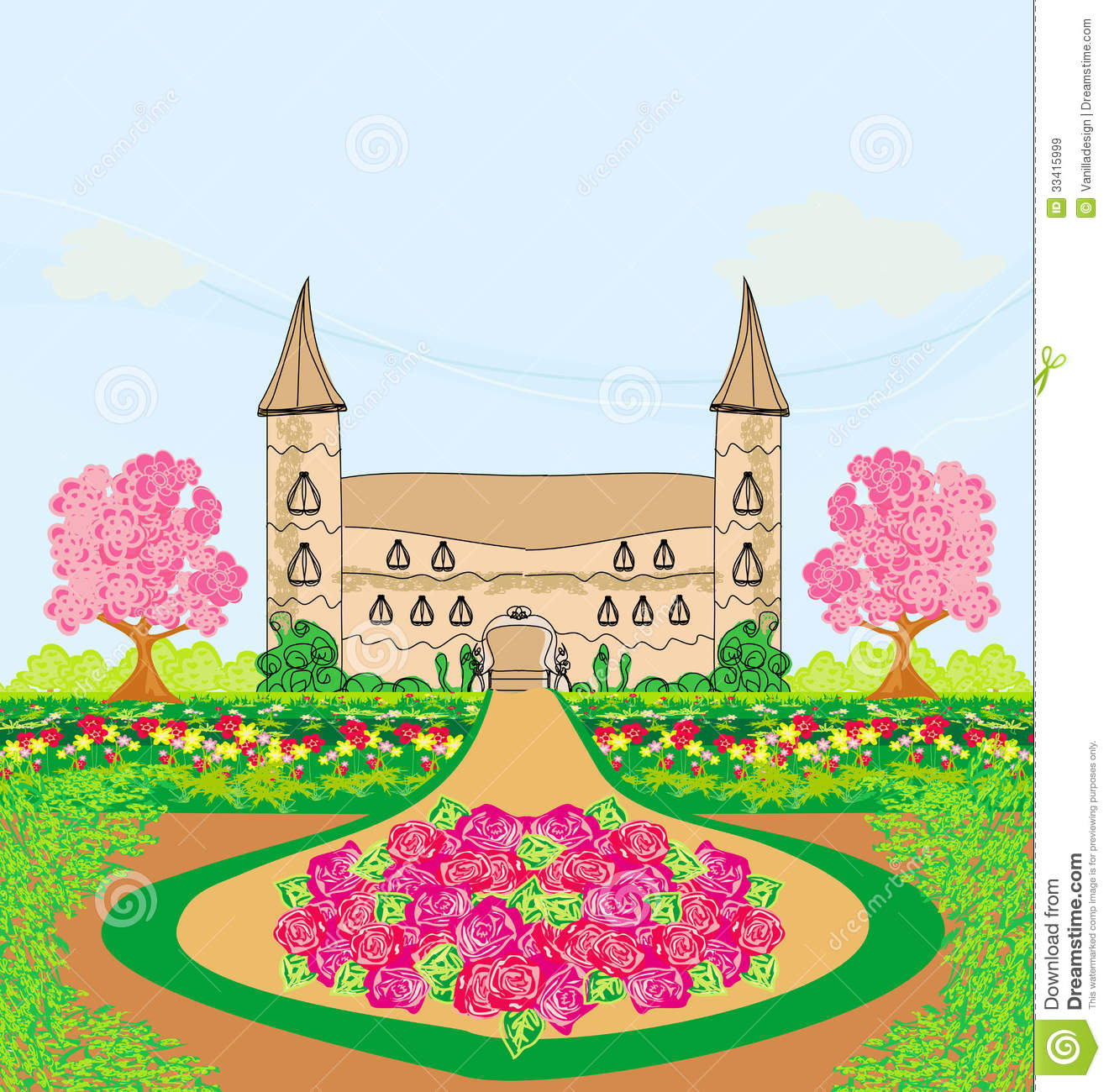 Palace clipart palace garden.