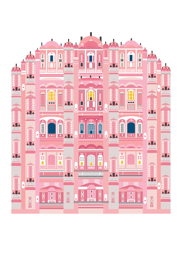 Palace clipart palace indian. Pink on behance illustration