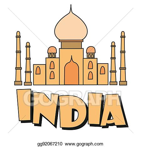 Palace clipart palace indian. India inscription stock