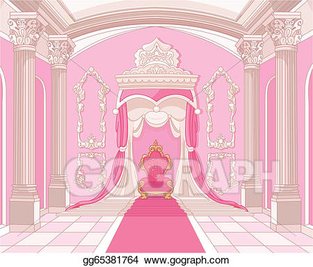 Palace clipart palace room. Eps vector throne of