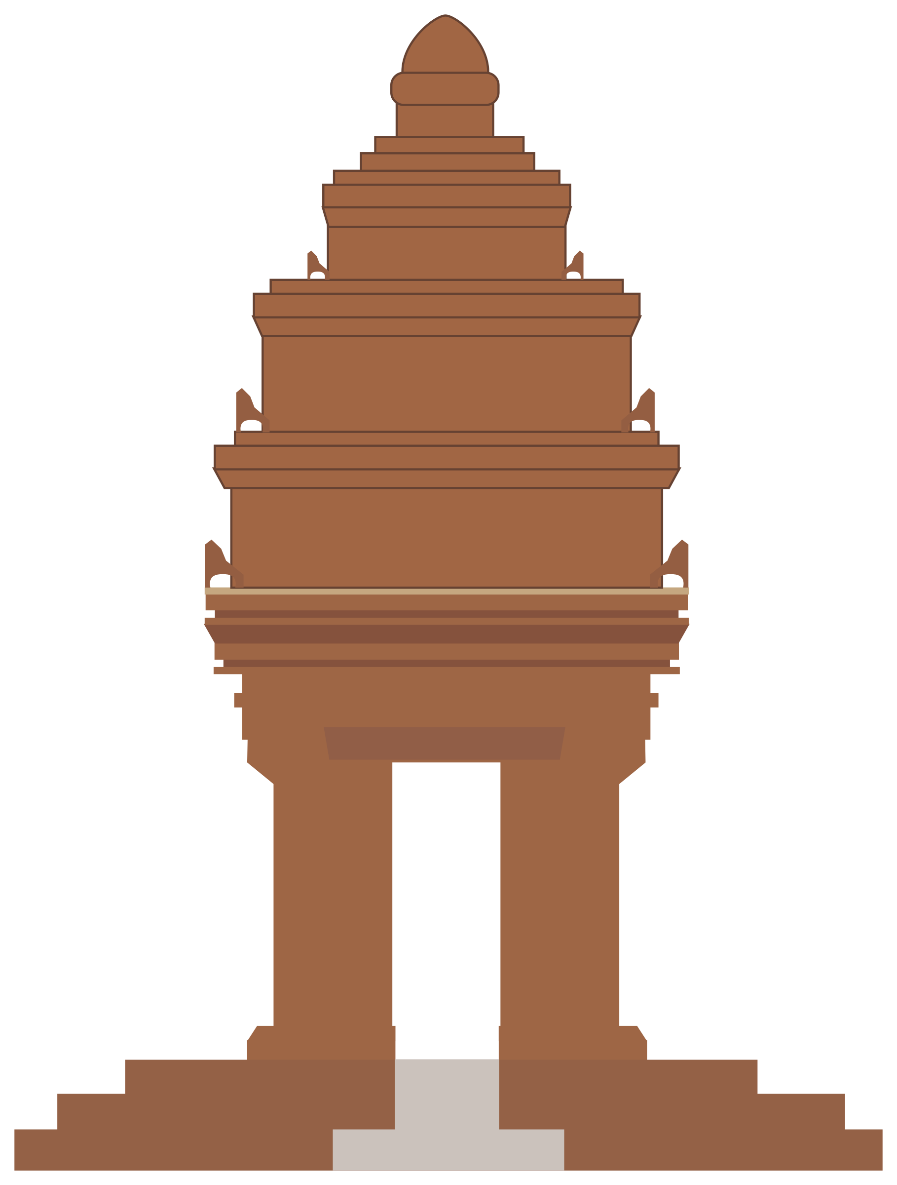 Independence memorial icons free. Palace clipart phnom penh png