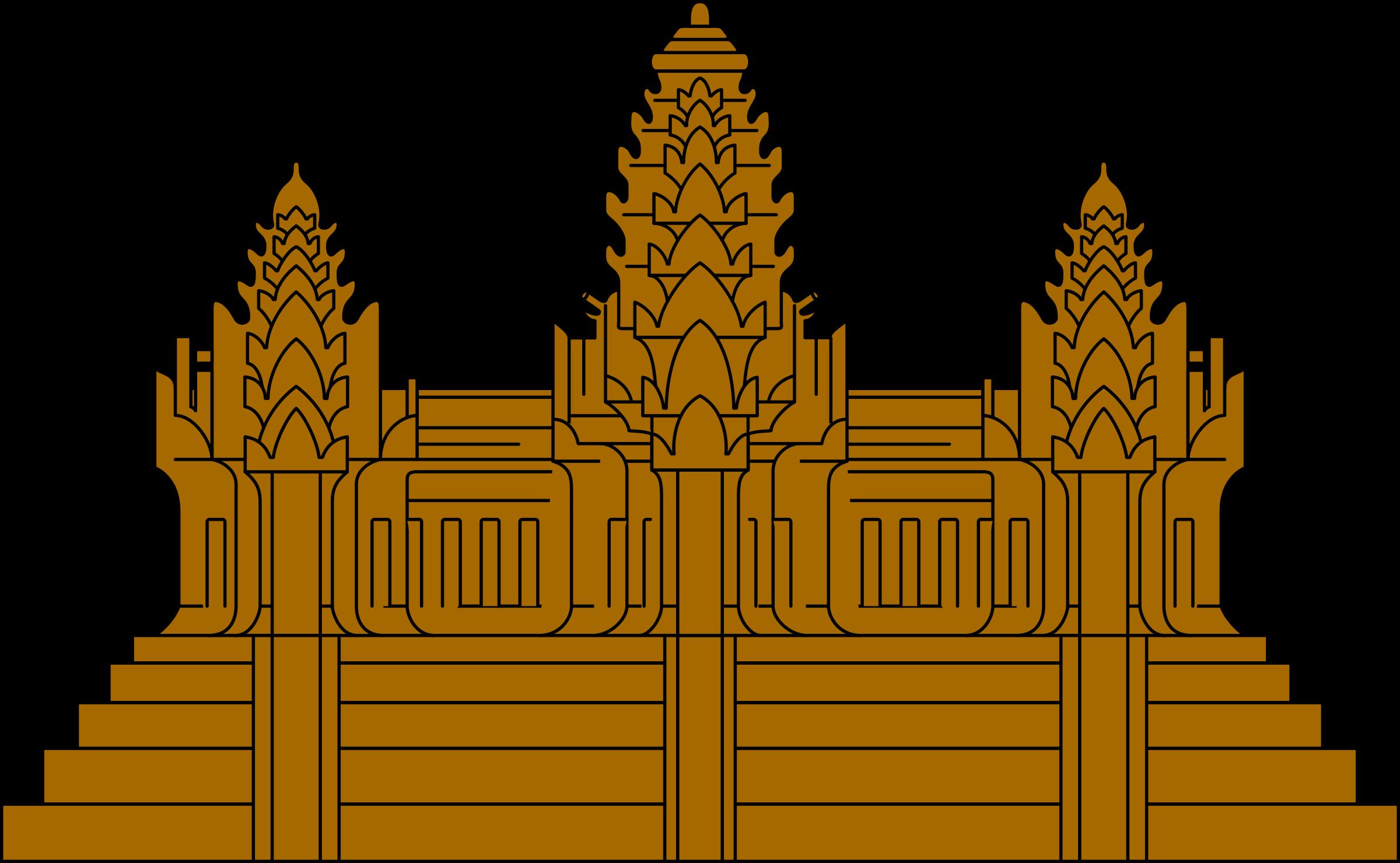 Angkor wat big image. Palace clipart phnom penh png