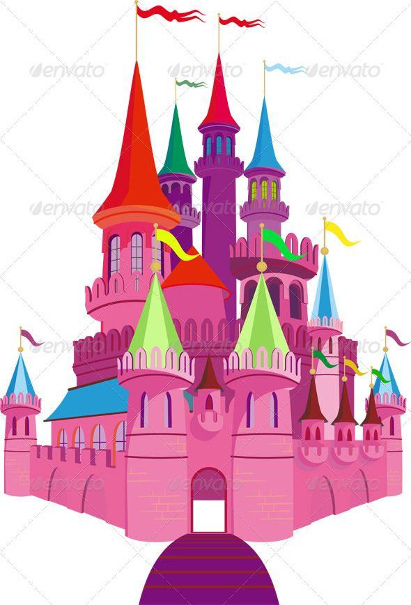 Fairy tale castles photos. Palace clipart pink castle