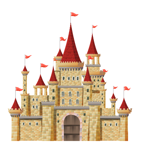 X free clip art. Palace clipart red castle