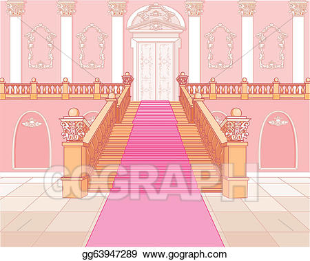 Palace clipart staircase. Clip art vector luxury