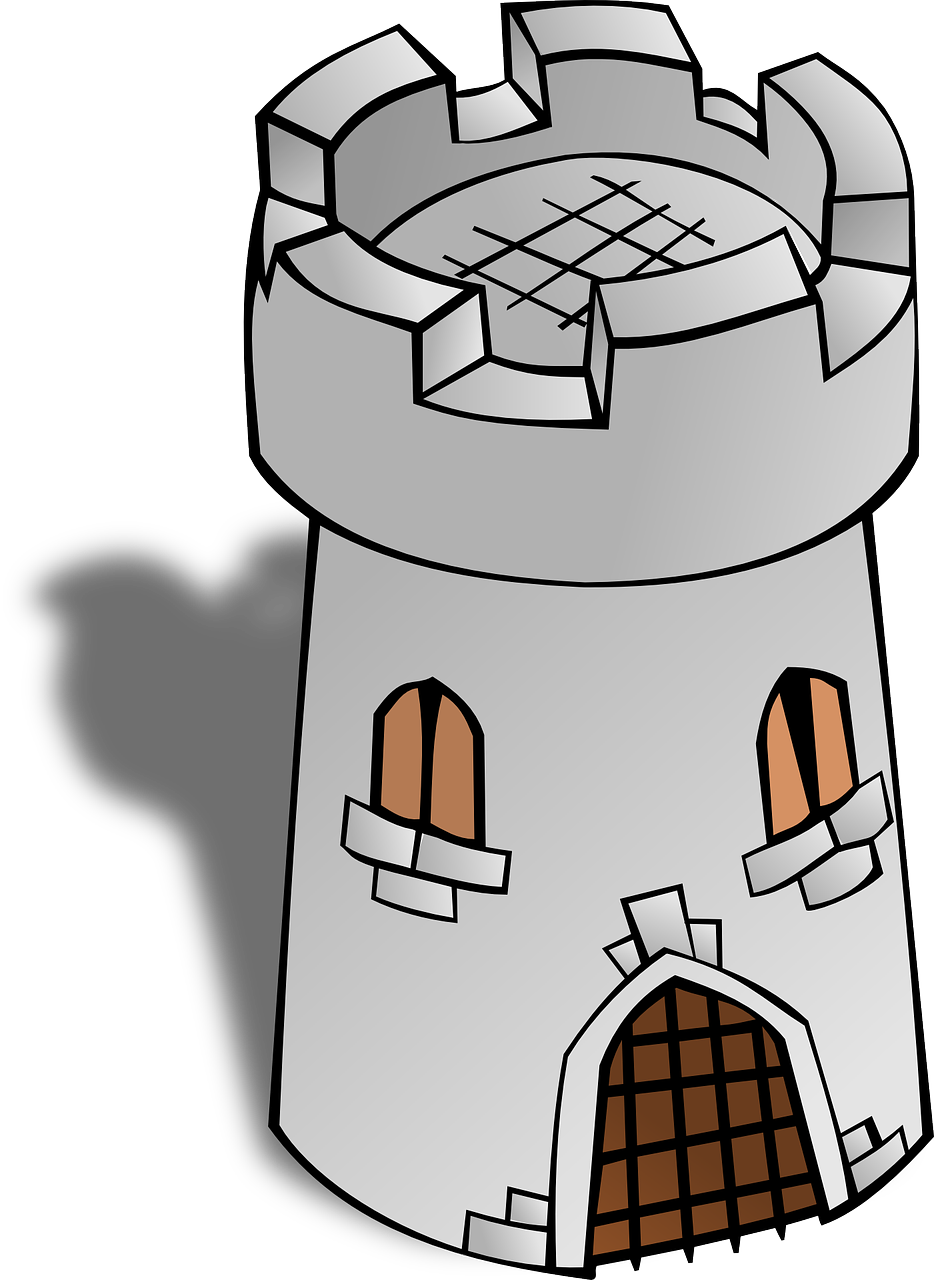 Tower medieval fortress. Castle clipart stone castle