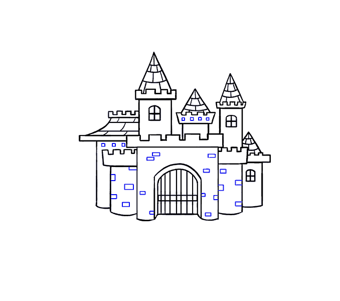 Palace clipart tall castle. How to draw a